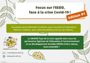 Focus sur l'EEDD, face à la crise Covid-19 ! Edition #1