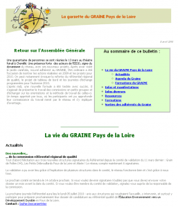 La Garzette - GRAINE Pays de la Loire